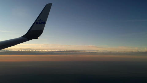 Plane flying over the clouds 12 Stock Video Footage