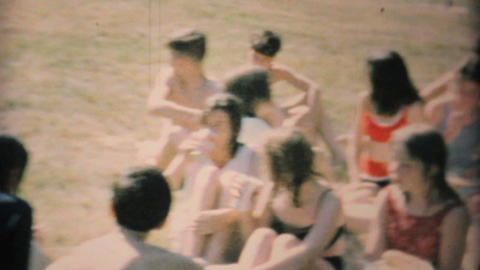 Young Teenagers Hang Out By The Pool 1969 Vintage 8mm film Footage