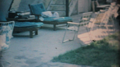 Young Teenagers Hang Out By The Pool 1969 Vintage 8mm film Stock Video Footage