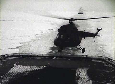 Newsreel of the USSR. The Arctic. Icebreaker Stock Video Footage