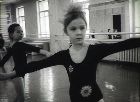 Children's school of ballet. Newsreel of the USSR Stock Video Footage