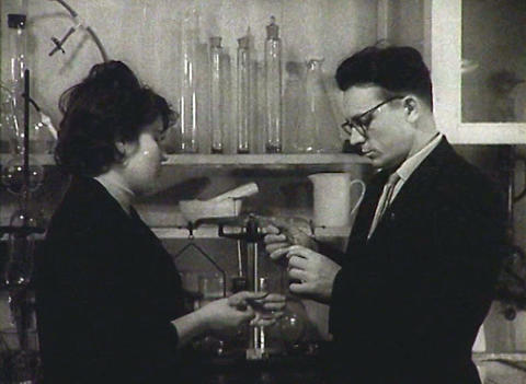 Chemical laboratory. Newsreel of the USSR Stock Video Footage