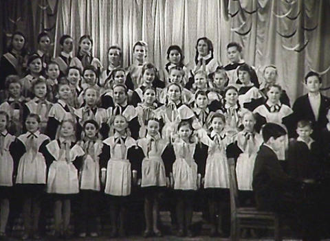 Children's choir. Newsreel of the USSR Footage