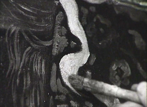 An artist paints a picture. Newsreel of the USSR Stock Video Footage