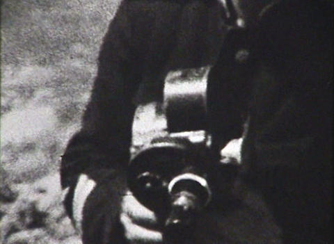 Newsreel. A group of reporters Footage