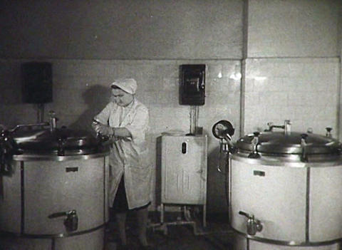 Cooks In The Kitchen. Newsreel Of The USSR stock footage