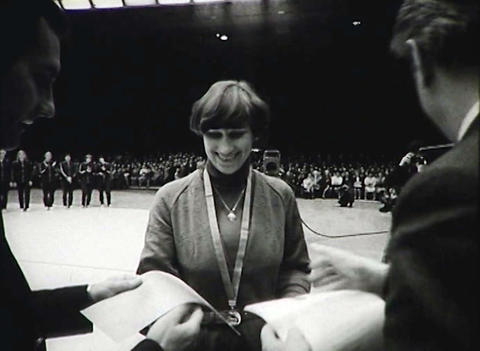 Awarding of the athletes. Newsreel of the USSR Stock Video Footage