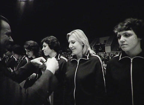 Awarding Of The Athletes. Newsreel Of The USSR stock footage