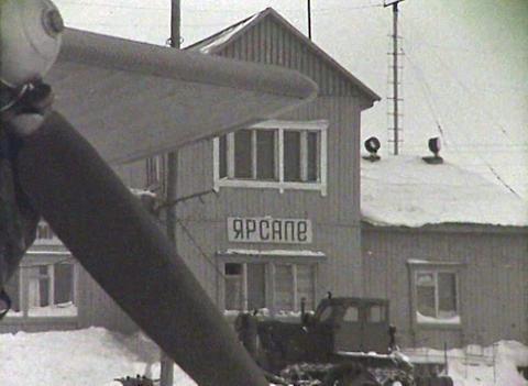 Reindeer team. Newsreel of the USSR Stock Video Footage