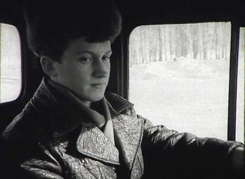 Adolescents in vocational-technical school. Newsreel of the USSR Live Action