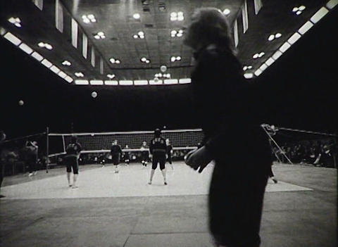 Volleyball. Women's Teams. Newsreel Of The USSR stock footage