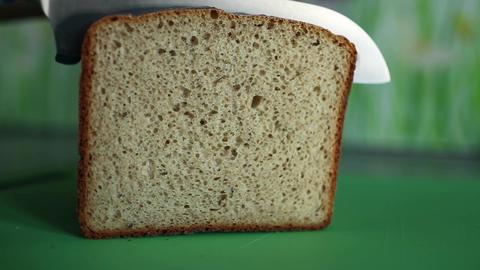 cut bread Stock Video Footage