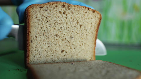 cut bread Stock Video Footage