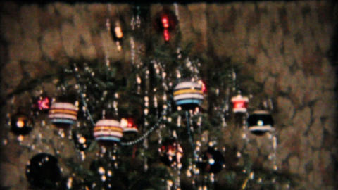 Model Railroad Train Set Under Christmas Tree 1958... Stock Video Footage