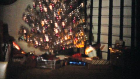Shimmering Christmas Tree 1965 Vintage 8mm film Stock Video Footage