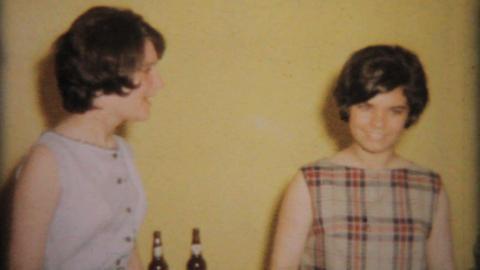 Teenage Girl Cuts Birthday Cake 1964 Vintage 8mm film Live Action
