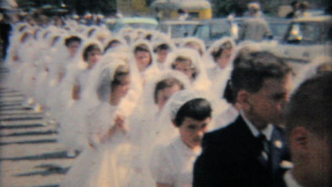 Catholic School Grads In Processional 1964 Vintage 8mm film Footage