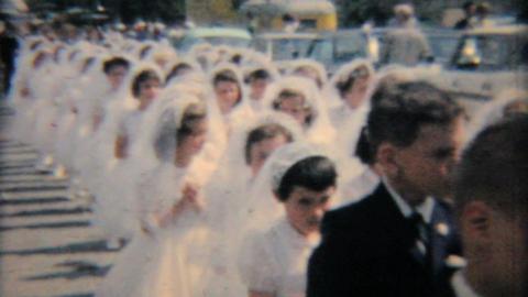 Catholic School Grads In Processional 1964 Vintage 8mm film Footage