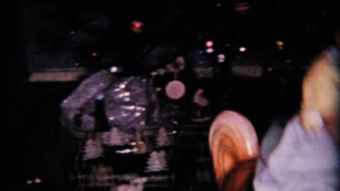 Christmas Little Boy On Rocking Horse 1958 Vintage 8mm film Stock Video Footage