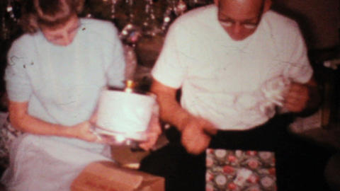 Crazy Gifts For Christmas 1967 Vintage 8mm film Stock Video Footage