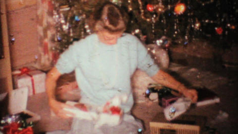 Mom Gets A New Ladle For Christmas 1967 Vintage 8mm film Stock Video Footage