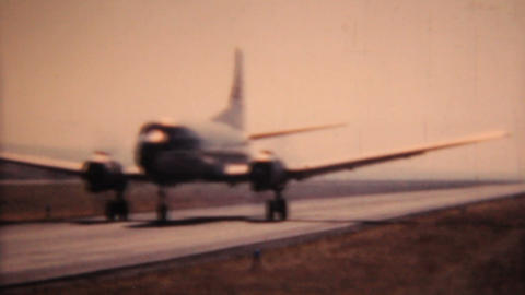 Old Airplanes Prepare For Take Off 1958 Vintage 8mm film Stock Video Footage