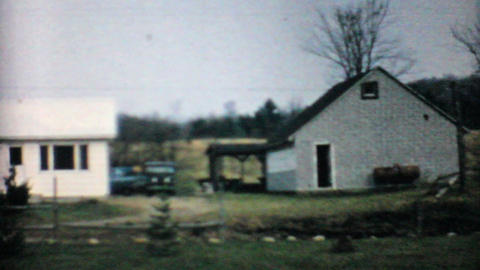 Old House In The Country 1968 Vintage 8mm film Stock Video Footage