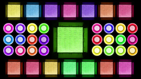 Colorful Led Lights Flashing 4 Stock Video Footage