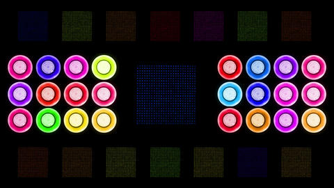Colorful Led Lights Flashing 4 Animation