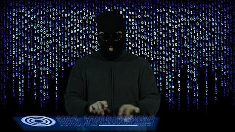 Hacker Breaking System Fail 12 Stock Video Footage
