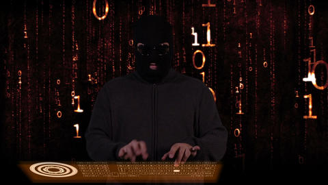 Hacker Breaking System Fail 14 Stock Video Footage
