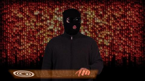Hacker Breaking System Success 13 Stock Video Footage