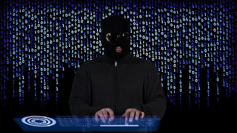 Hacker Breaking System Success 15 Stock Video Footage