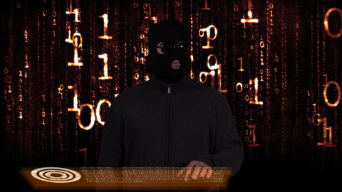 Hacker Breaking System Success 17 Stock Video Footage