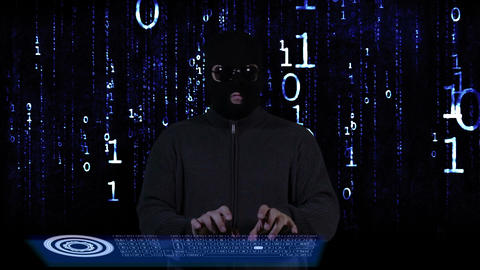 Hacker Breaking System Success Matrix 2 Stock Video Footage