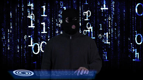 Hacker Breaking System Success Matrix 2 stock footage