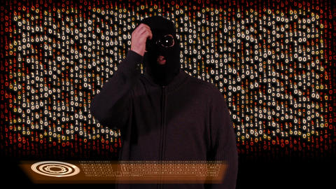 Hacker Breaking System Thinking 10 Stock Video Footage