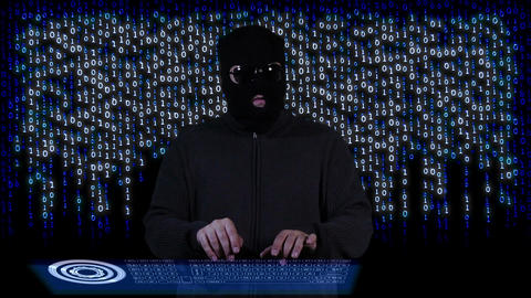 Hacker Breaking System Thinking 12 Stock Video Footage