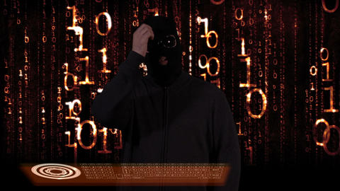 Hacker Breaking System Thinking 14 Stock Video Footage
