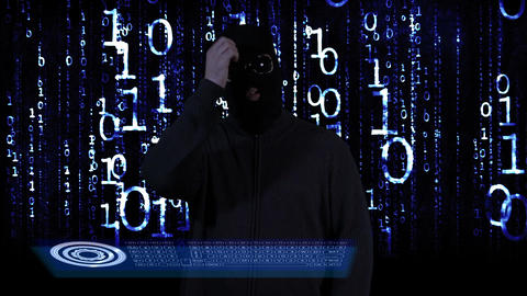 Hacker Breaking System Thinking 16 Stock Video Footage