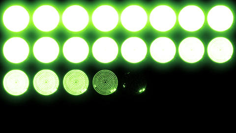 Led Lights Green 1 Stock Video Footage