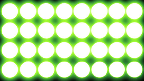 Led Lights Green 1 stock footage