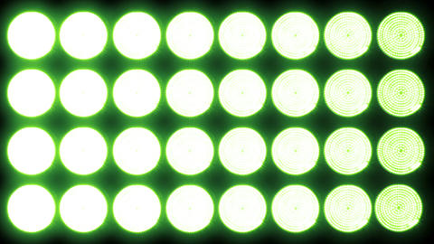 Led Lights Green 3 Stock Video Footage