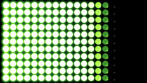 Led Lights Green 5 Stock Video Footage