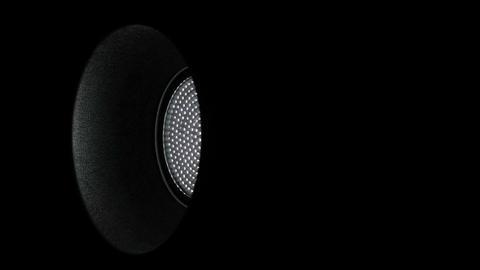 Medium Light Reflector Turning left right Loop 1 Stock Video Footage