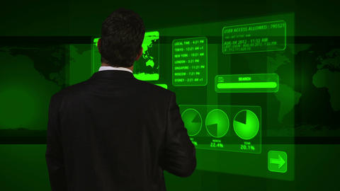Young Businessman Virtual Online Banking 7 Footage