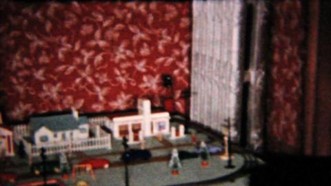 Christmas Presents Under Christmas Tree 1958 Vintage 8mm... Stock Video Footage