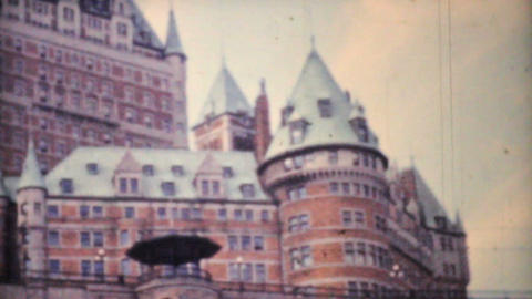 Frontenac Hotel Quebec City 1958 Vintage 8mm film Stock Video Footage