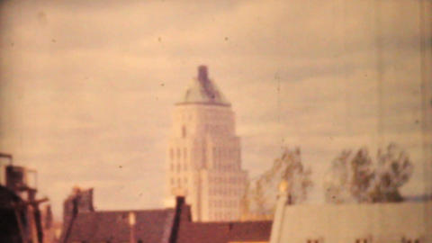 Quebec City And Saint Lawrence Seaway 1958 Vintage 8mm film Stock Video Footage