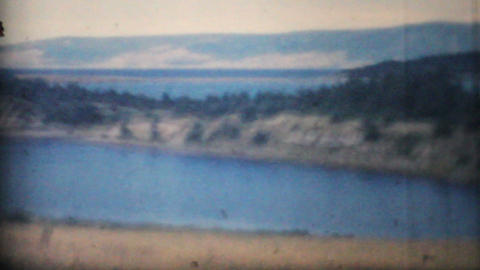 Family Vacation on East Coast Of Canada 1958 Vintage 8mm... Stock Video Footage